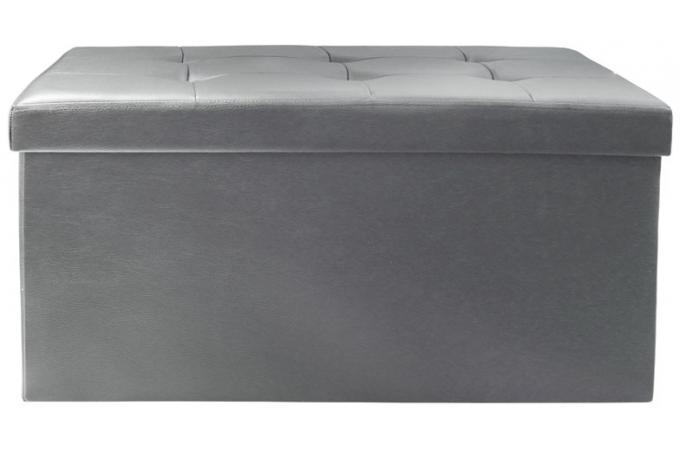 Banc Coffre Pliable Gris Ysse Design Sur Sofactory