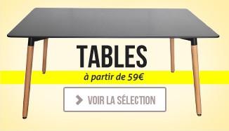 Nouvelles tables design