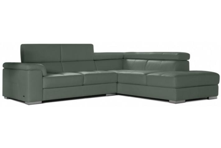 Canapé d angle droit 5 places en cuir DETROIT design pas