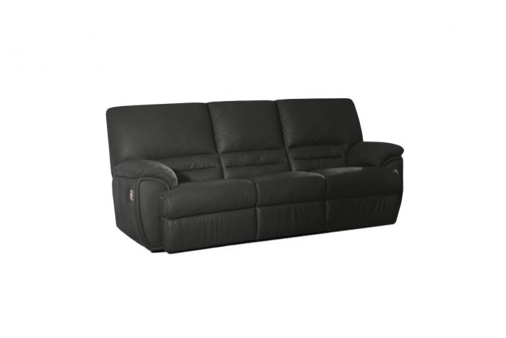 canap relaxation 3 places en cuir cocoon design sur sofactory. Black Bedroom Furniture Sets. Home Design Ideas