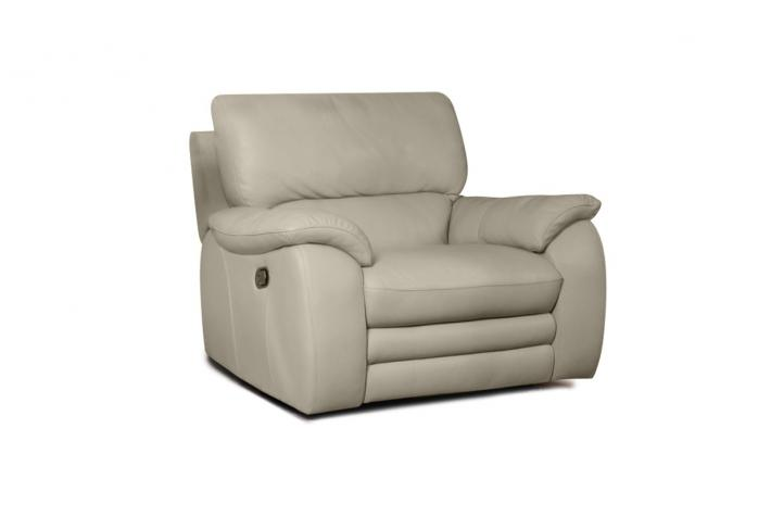 Fauteuil relaxation en cuir PETERS