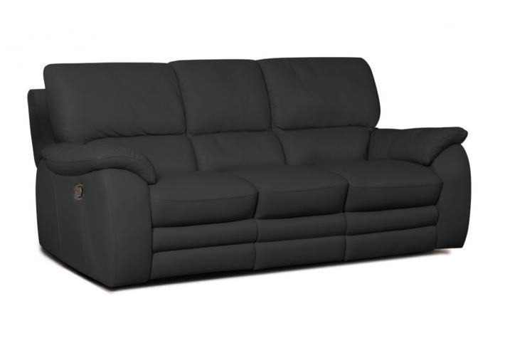 Canap 3 places relaxation lectrique en cuir peters design sur sofactory - Canape cuir electrique 3 places ...