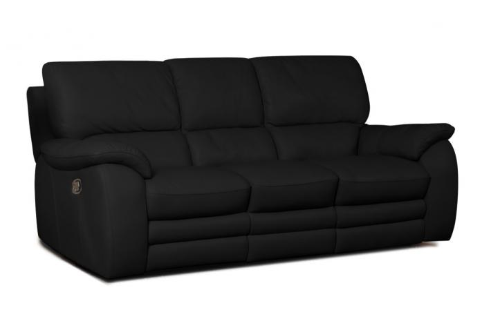 canap 3 places relaxation lectrique en cuir peters. Black Bedroom Furniture Sets. Home Design Ideas