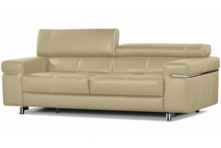 Canap 3 places en cuir atlanta design pas cher sur sofactory - Canape cuir 6 places ...