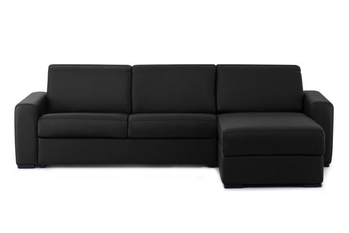 canap d 39 angle modulable convertible en cuir panarea. Black Bedroom Furniture Sets. Home Design Ideas