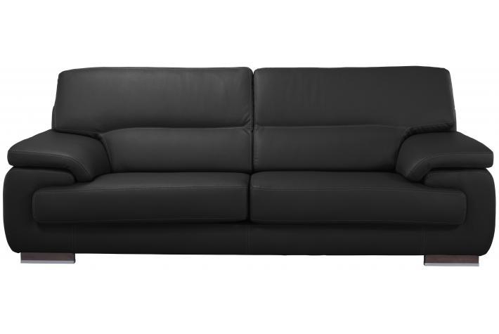 Canap 3 places en cuir john design pas cher sur sofactory - Canape cuir 3 places pas cher ...