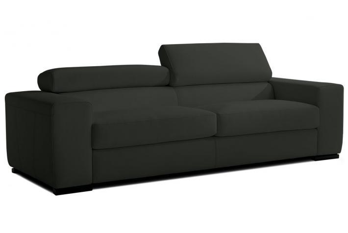 Canap 3 places en cuir jona design pas cher sur sofactory for Rembourrage canape cuir
