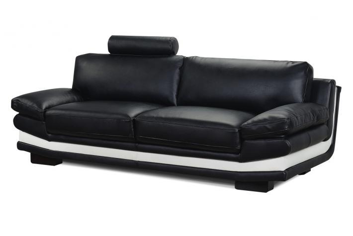 canap 3 places en cuir hanoi design pas cher sur sofactory. Black Bedroom Furniture Sets. Home Design Ideas