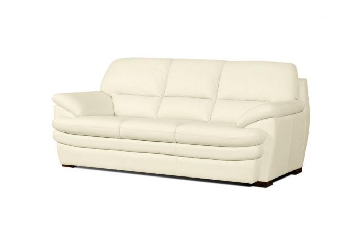 canap fixe 3 places en cuir andrea design pas cher sur sofactory. Black Bedroom Furniture Sets. Home Design Ideas