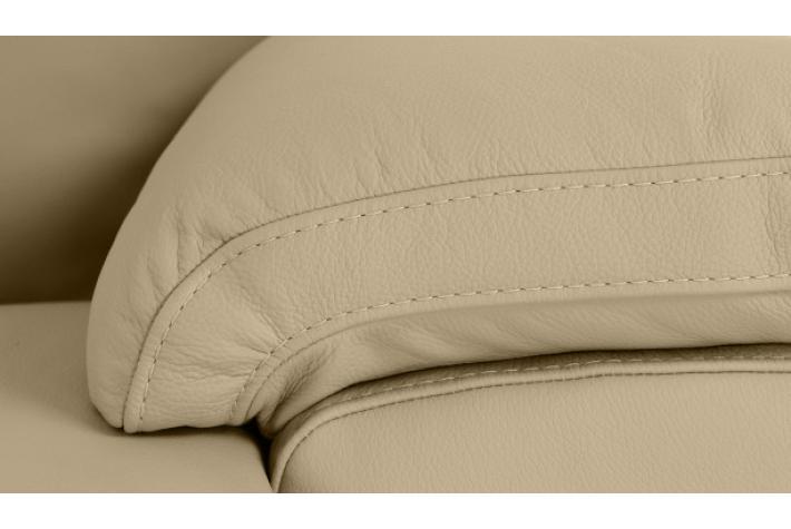 Fauteuil en cuir niko design pas cher sur sofactory - Fauteuil en cuir beige ...