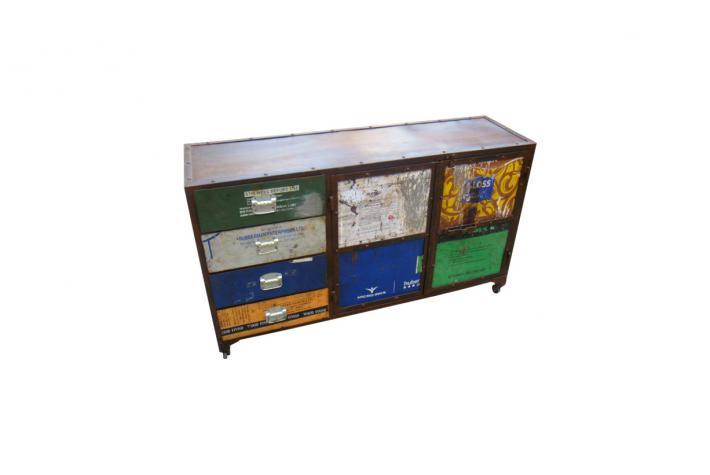 buffet en m tal expo design pas cher sur sofactory. Black Bedroom Furniture Sets. Home Design Ideas