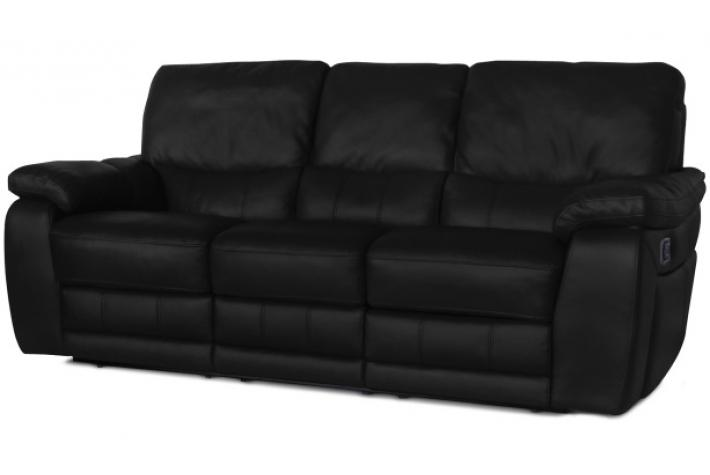 Canap relax lectrique en cuir 3 places select design en direct de l 39 usi - Canape cuir relax electrique 3 places ...