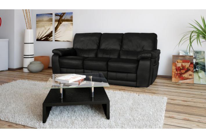 Canap relax lectrique en cuir 3 places select design sur - Canape cuir electrique 3 places ...