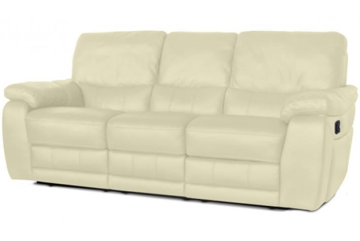 Canap relaxation 3 places en cuir select design pas cher sur sofactory - Canape relax cuir 3 places ...