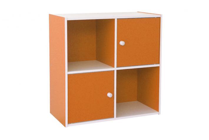 bloc de rangement 4 cases stefan orange design sur sofactory. Black Bedroom Furniture Sets. Home Design Ideas