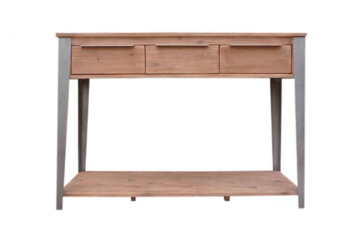 console 3 tiroirs 2 niveaux zaline design sur sofactory. Black Bedroom Furniture Sets. Home Design Ideas