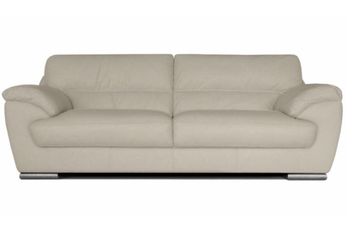 Canap 3 places en cuir sologne design pas cher sur sofactory for Canape cuir gris clair
