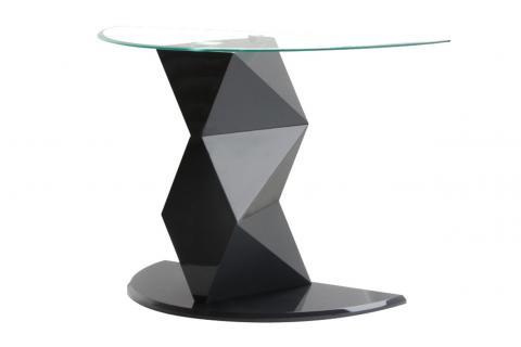 console d 39 entr e sacla laqu gris design pas cher sur sofactory. Black Bedroom Furniture Sets. Home Design Ideas