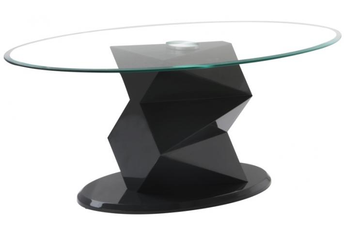 Table Basse Ovale En Verre Anta Gris Anthracite Design Sur