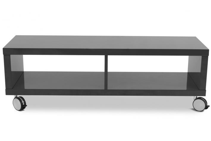 Meuble TV long PLAYLIST Laqué Gris design sur SoFactory