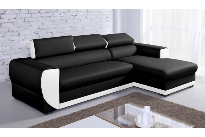 canap d angle convertible simili cuir table de lit. Black Bedroom Furniture Sets. Home Design Ideas
