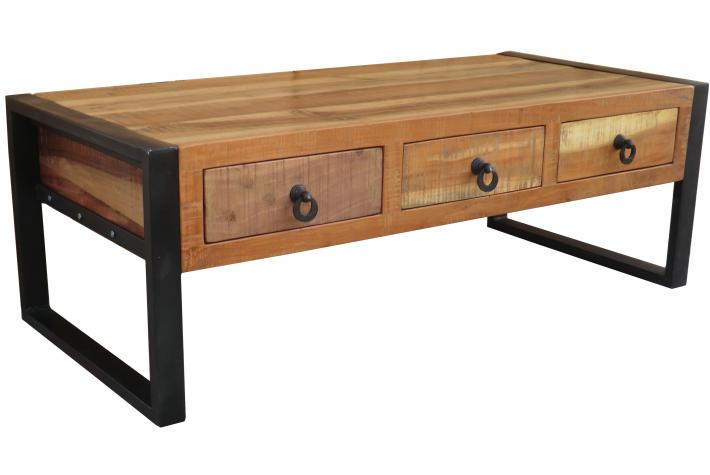 Table basse 3 tiroirs wilham design en direct de l 39 usine sur sofactory - Table basse avec tiroirs ...