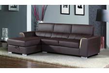 Canapé angle gauche en cuir ROCCA
