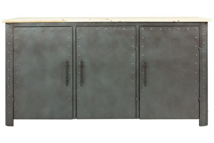 buffet en m tal 3 portes isee design pas cher sur sofactory. Black Bedroom Furniture Sets. Home Design Ideas