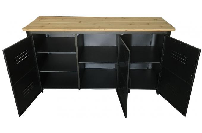 buffet en m tal 3 portes faber design sur sofactory. Black Bedroom Furniture Sets. Home Design Ideas