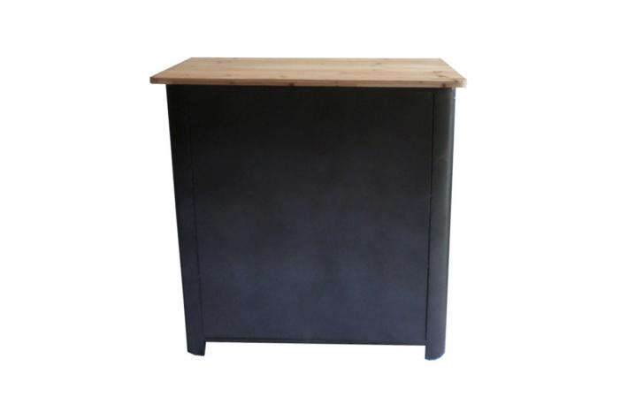 buffet en m tal 4 portes et 2 tiroirs faber design pas cher sur sofactory. Black Bedroom Furniture Sets. Home Design Ideas
