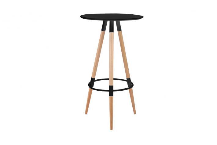 table haute solna noir design sur sofactory. Black Bedroom Furniture Sets. Home Design Ideas