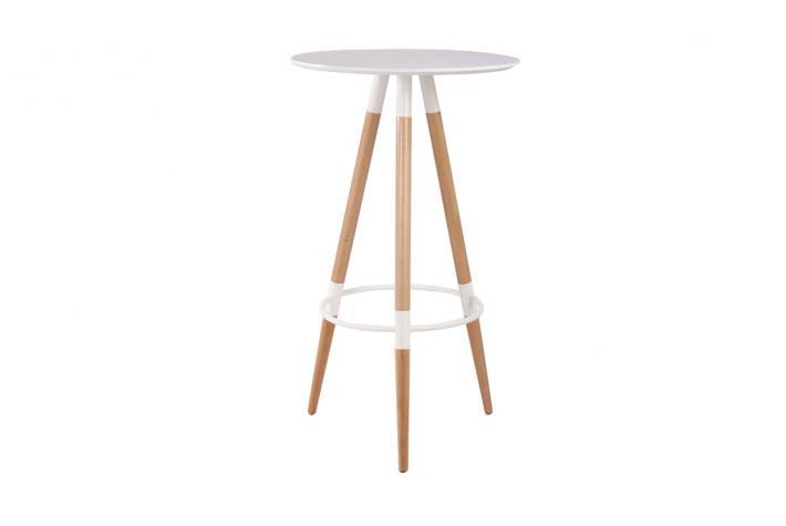 Table haute solna blanc design en direct de l 39 usine sur for Table haute ronde cuisine