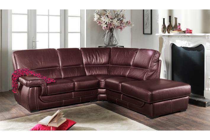 canap d 39 angle gauche en cuir zingaro design sur sofactory. Black Bedroom Furniture Sets. Home Design Ideas