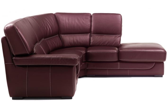canap d 39 angle droit en cuir zingaro design pas cher sur sofactory. Black Bedroom Furniture Sets. Home Design Ideas