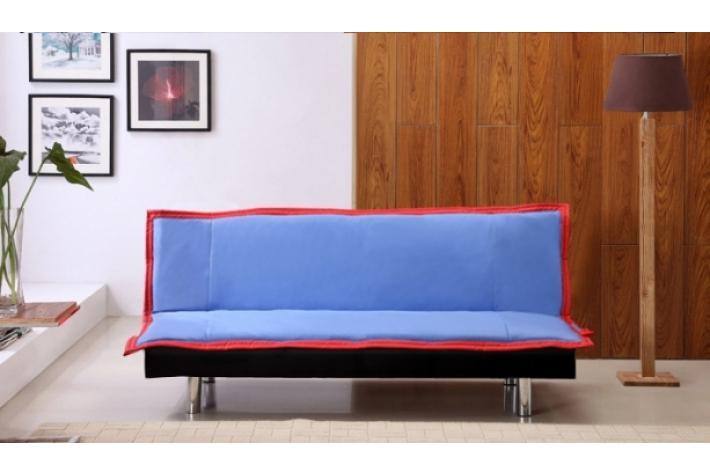 clic clac bleu banquette clic clac louisa bleu marine uni. Black Bedroom Furniture Sets. Home Design Ideas