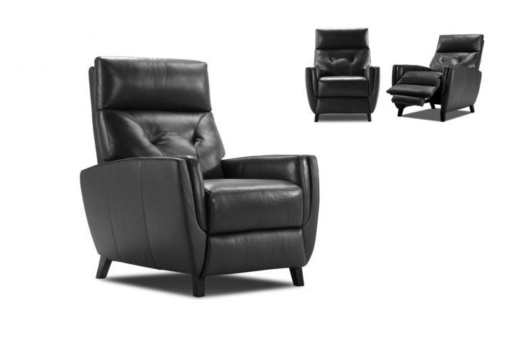 fauteuil relaxation en cuir hakon design pas cher sur sofactory. Black Bedroom Furniture Sets. Home Design Ideas