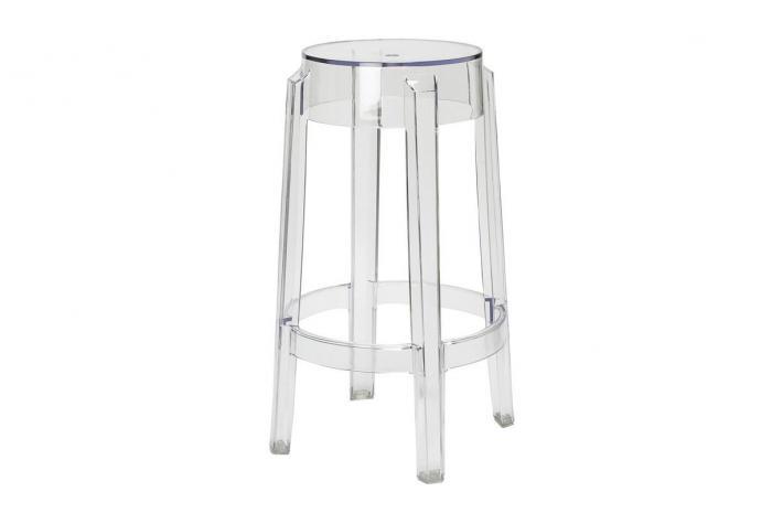 tabouret de bar diabolo transparent design sur sofactory. Black Bedroom Furniture Sets. Home Design Ideas