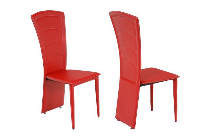 Lot de 2 chaises capri rouge design en direct de l 39 usine sur sofactory for Chaise factory rouge
