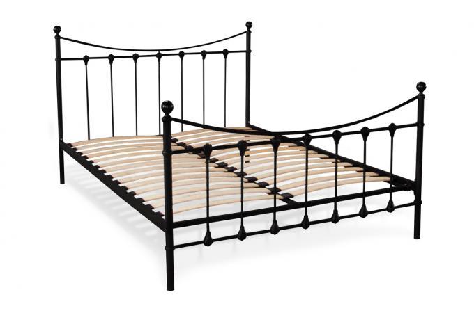 lit noir avec sommier 140x190 justy design sur sofactory. Black Bedroom Furniture Sets. Home Design Ideas