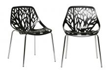 Lot de 2 chaises SHERWOOD Noir