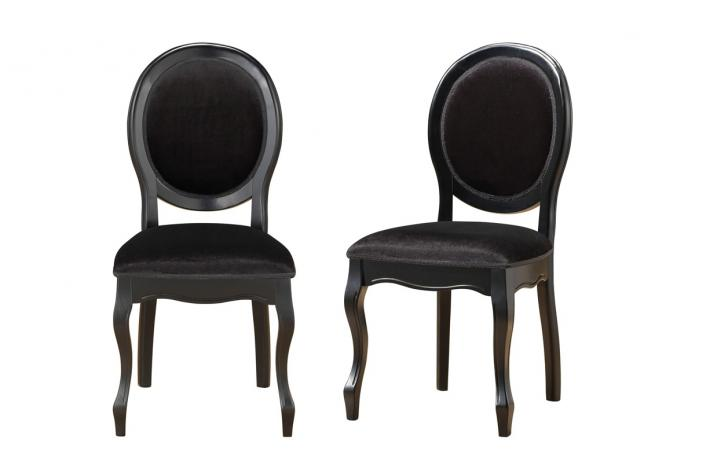 lot de 2 chaises m daillon noires antoinette design sur sofactory. Black Bedroom Furniture Sets. Home Design Ideas