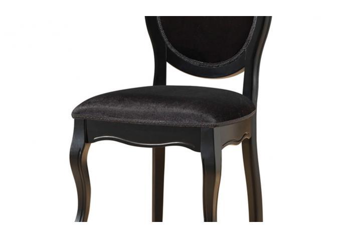 lot de 2 chaises médaillon noires en tissu antoinette design pas ... - Chaise Medaillon Pas Cher