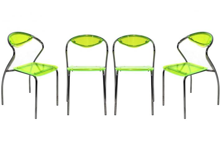 Lot de 4 chaises empilables CHICA