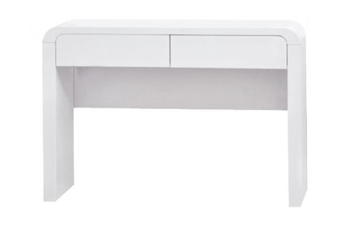 Console 2 tiroirs blanche ovrik design en direct de l 39 usine sur sofactory - Console laquee blanche avec tiroir ...