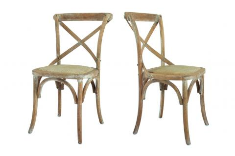 Chaise en bois (lot de 2) ROMARINE