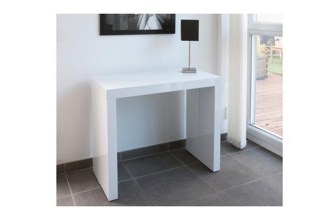 Console extensible blanche 180cm laque MARIE-LINE design sur SoFactory