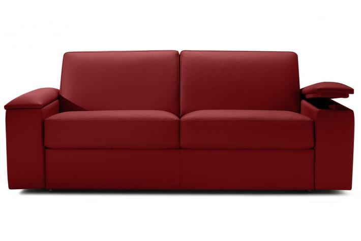 Canap convertible en cuir gaia design en direct de l for Canape convertible cuir rouge
