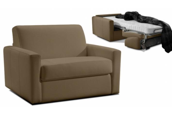 fauteuil convertible en cuir james design en direct de l. Black Bedroom Furniture Sets. Home Design Ideas