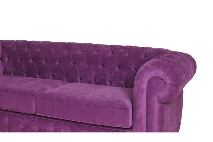 canap 3 places chesterfield en velours chesterline design sur sofactory. Black Bedroom Furniture Sets. Home Design Ideas