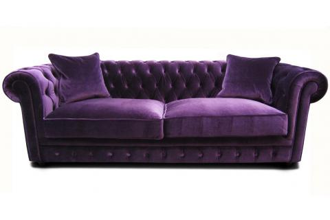 Canap chesterfield en velours claridge design en direct de l 39 usine sur sofactory for Canape convertible velours rouge